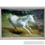 Объёмная большая 3D картина Белая лошадь всего 1800 руб.