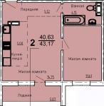 продам 2 к.кв-ру Студия+Спальня ул.2-я Эльтонская,3.13